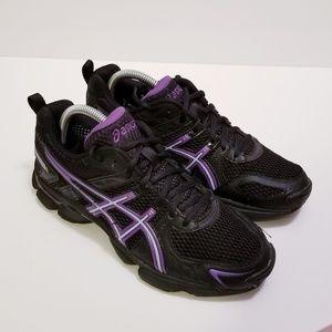 Asics sz 8.5 Black/Purple Gel 260TA S050N Sneakers